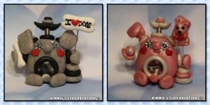 Polymer Clay Robot - AnimalBots by KIMMIESCLAYKREATIONS