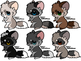 Cute Thingies Adoptables :CLOSED: by Okami-Heart
