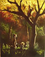 calvin hobbes fall my painting by cliford417
