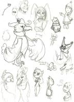 PKMN Crossing Sketches by Bloomins