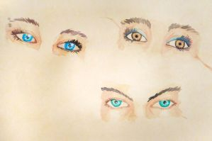 Watercolor eyes by BlueShining