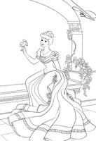 Lineart - Cinderella by selinmarsou
