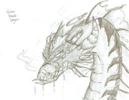 Queen Black Dragon Sketch by prezleek