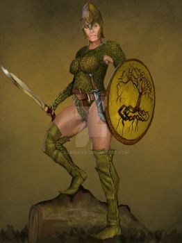 Greenwood Elf Scout by JLazarusEB