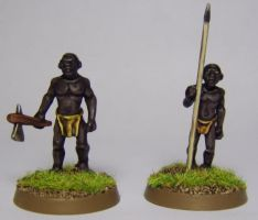 African Male Villagers by FraterSINISTER