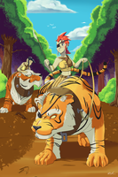 Amazonian Tiger Riders by Lightrail