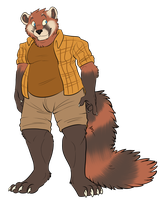 Chubby Red Panda by MintyMaguire