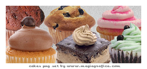 png set cakes by Magiagrafica