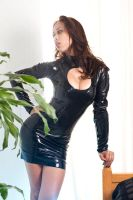 Black Keyhole dress 04 by GuldorPhotography