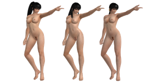 Nude Phase4 Ikaruga Pack (3 Different Hairstyles!) by XNALara-Finatic