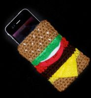 Cheeseburger iPhone Case by rainbowdreamfactory