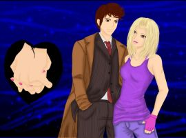 Rose and the 10 Doctor by LoveBlueCoffee