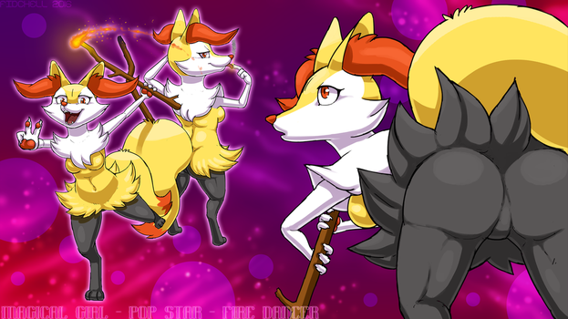 Braixen Montage by Fiidchell