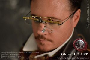 Steampunk prescription eyeglasses by MichaelOrlandoArt