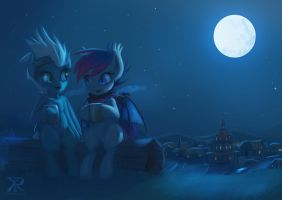 sharing the night with friends by hyperfreak666