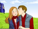 Doctor Who - Amy x Rory by strawberrygina