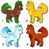 Adorable Seasonal Adoptables! 25 points each! by DailyAdoptables