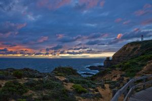 Clifftop Sunset by Bjay70