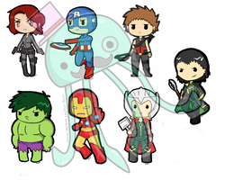 New Avenger Keychains by MySirJelly