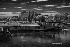 Boats in Town by Aneede