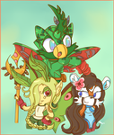 Interesting Trio :. Commission.: by chibiirose