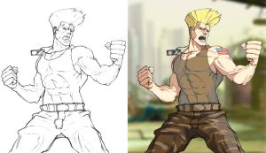 SF Card - Guile by Zubby