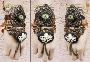 Sale octopus watch cuff by Pinkabsinthe