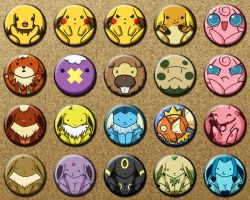 Pokemon Pins by starfishey