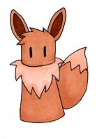 simplified pokemon eevee by Baka-customs