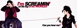 Screamin Facebook Cover by DysfunctionalHuman