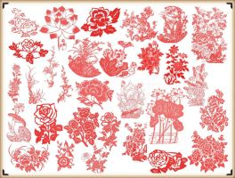 Beautiful Flower Brushes for Photoshop by blitherjust