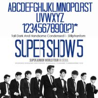 super junior Super Show 5    font by StillPhantom