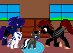 Iridio and Snow meeting Dored and Alicra by Dekra234
