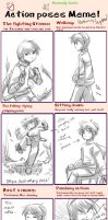 Action Poses - filled by Zackypenguin