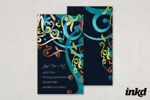 Modern Artist's Business Card by inkddesign