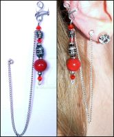 Red Ear Cuff by melijan