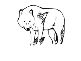 Free-Okami Lineart by GoldSnapDragon