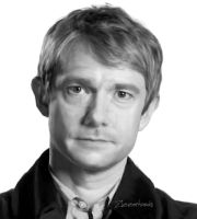 Martin Freeman by Zizzorhands