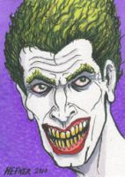 The Joker Sketch Card Portrait by HalHefnerART