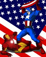 Captain America VS Iron Man by PCtechNerd