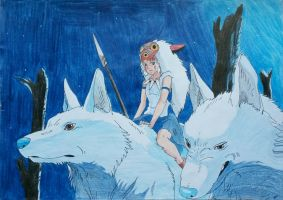 Princess Mononoke by Tsofbluebering