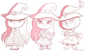 Commission Witches batch by Domestic-hedgehog