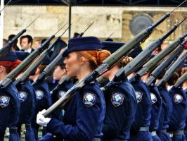 woman police parade by BL00DYSunflowers