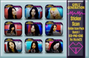SNSD Mr. Mr. Sticker Scan Folder Icon Pack 1 by Rizzie23