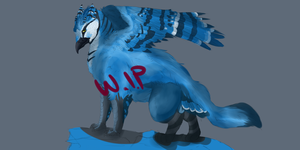 Griffon Commission W.I.P 1 by Allixi