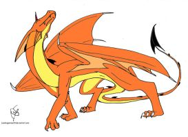 Orange dragon by lesdragonnes34
