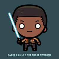 Radio Gosha x The Force Awakens Finn by GoshaDole