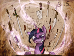 Epic Meal Time with Twilight Sparkle by FoxInShadow