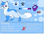 Roxy Reference Sheet - 2015 by RoxyPuppyGirl