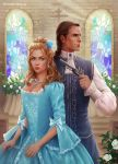 cover of the novel THE PRINCESS AND THE DRAGON by sharandula